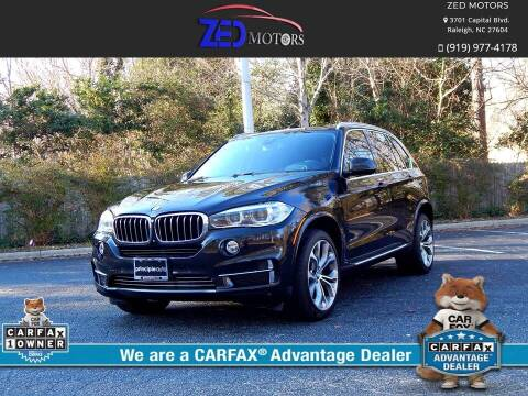 2016 BMW X5 for sale at Zed Motors in Raleigh NC