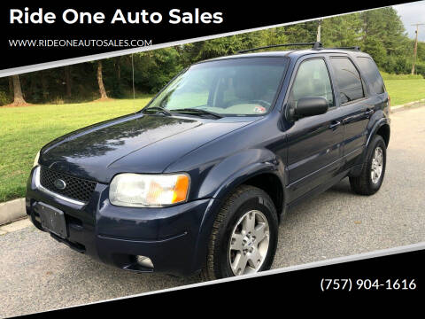 2003 Ford Escape for sale at Ride One Auto Sales in Norfolk VA