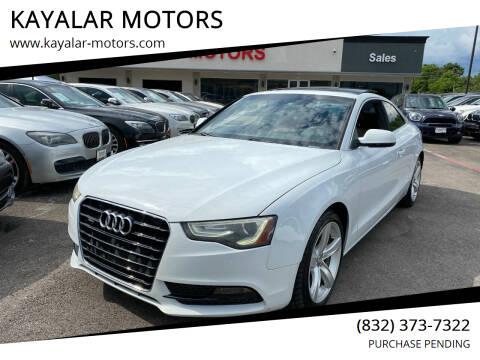 2013 Audi A5 for sale at KAYALAR MOTORS in Houston TX