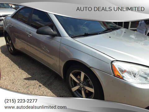 2008 Pontiac G6 for sale at AUTO DEALS UNLIMITED in Philadelphia PA