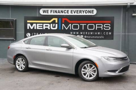 2016 Chrysler 200 for sale at Meru Motors in Hollywood FL