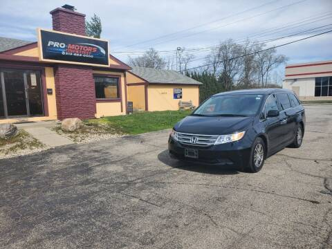 2013 Honda Odyssey for sale at Pro Motors in Fairfield OH