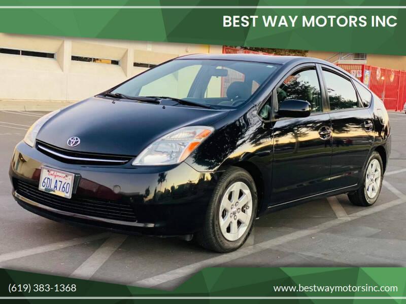 2008 Toyota Prius for sale at BEST WAY MOTORS INC in San Diego CA