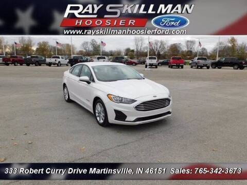 2019 Ford Fusion Hybrid for sale at Ray Skillman Hoosier Ford in Martinsville IN