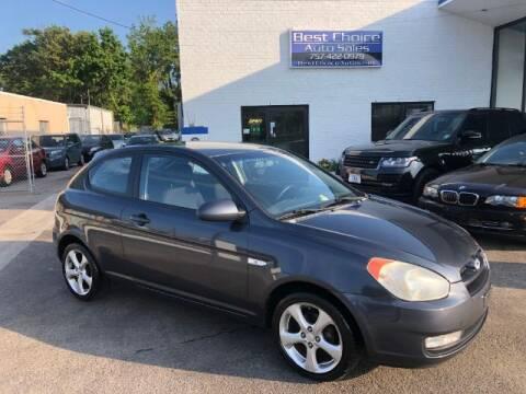 2007 Hyundai Accent for sale at Best Choice Auto Sales in Virginia Beach VA