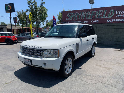 2006 Land Rover Range Rover for sale at SPRINGFIELD BROTHERS LLC in Fullerton CA