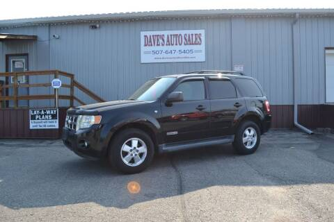 2008 Ford Escape for sale at Dave's Auto Sales in Winthrop MN