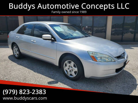 2005 Honda Accord for sale at Buddys Automotive Concepts LLC in Bryan TX