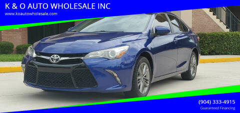 2015 Toyota Camry for sale at K & O AUTO WHOLESALE INC in Jacksonville FL
