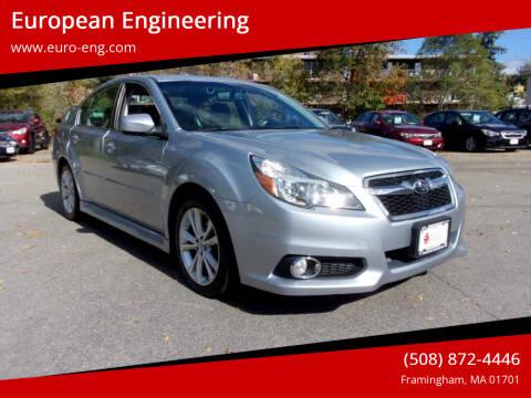 2013 Subaru Legacy for sale at European Engineering in Framingham MA