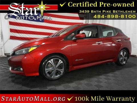 2018 Nissan LEAF for sale at STAR AUTO MALL 512 in Bethlehem PA