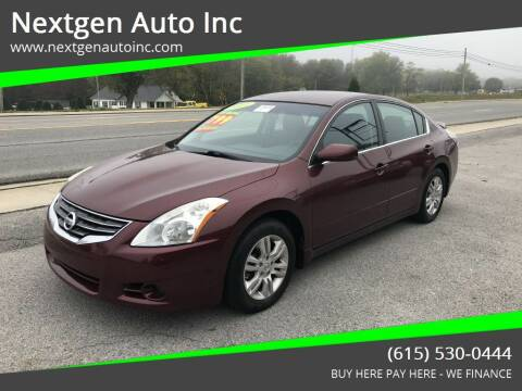 2011 Nissan Altima for sale at Nextgen Auto Inc in Smithville TN