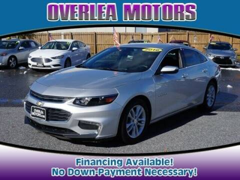 2016 Chevrolet Malibu for sale at Overlea Motors in Baltimore MD
