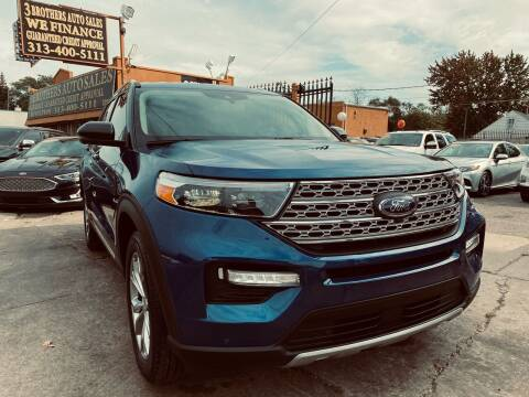 2021 Ford Explorer for sale at 3 Brothers Auto Sales Inc in Detroit MI