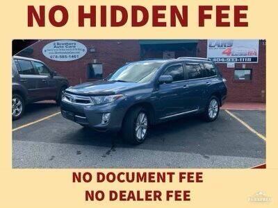 2012 Toyota Highlander Hybrid for sale at Cars4Less GA in Alpharetta GA