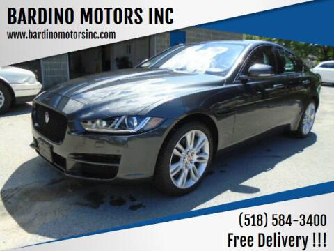 2018 Jaguar XE for sale at BARDINO MOTORS INC in Saratoga Springs NY