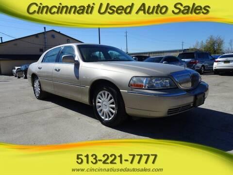 2005 Lincoln Town Car for sale at Cincinnati Used Auto Sales in Cincinnati OH