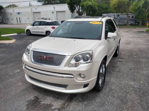 2011 GMC Acadia for sale at Best Price Car Dealer in Hallandale Beach FL