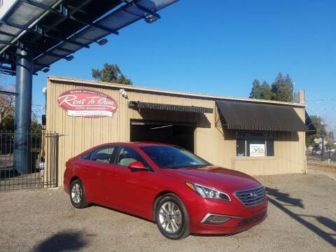 2017 Hyundai Sonata for sale at Rent To Own Auto Showroom LLC - Finance Inventory in Modesto CA