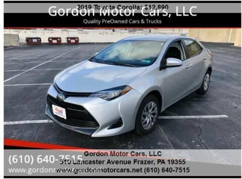 2019 Toyota Corolla for sale at Gordon Motor Cars, LLC in Frazer PA