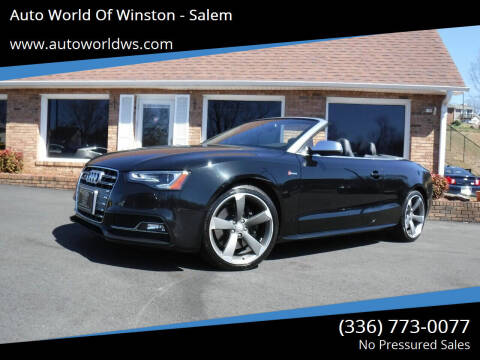 2016 Audi S5 for sale at Auto World Of Winston - Salem in Winston Salem NC