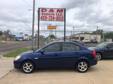 2007 Hyundai Accent for sale at D & M Vehicle LLC in Oklahoma City OK