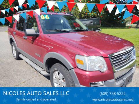 2006 Ford Explorer for sale at NICOLES AUTO SALES LLC in Cream Ridge NJ