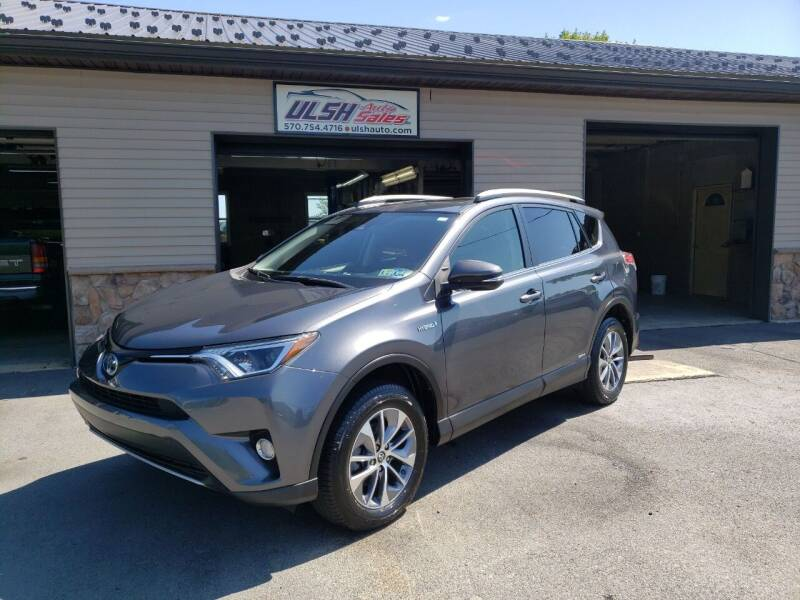 2018 Toyota RAV4 Hybrid for sale at Ulsh Auto Sales Inc. in Summit Station PA