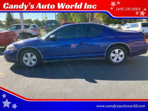 2006 Chevrolet Monte Carlo for sale at Candy's Auto World Inc in Toledo OH