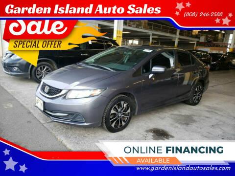 2015 Honda Civic for sale at Garden Island Auto Sales in Lihue HI