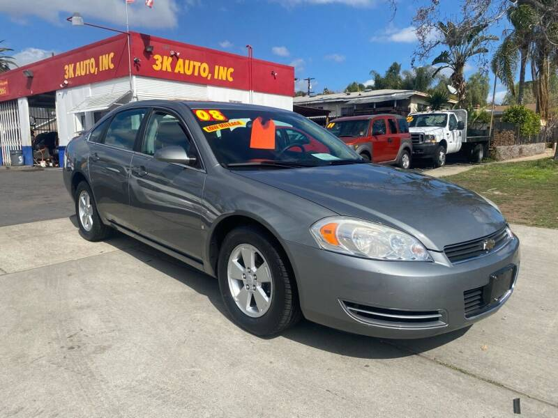 2008 Chevrolet Impala for sale at 3K Auto in Escondido CA