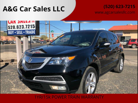 2011 Acura MDX for sale at A&G Car Sales  LLC in Tucson AZ