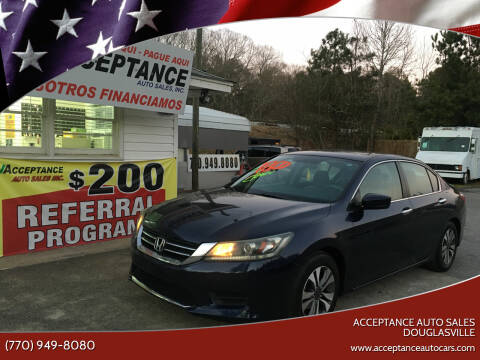 2013 Honda Accord for sale at Acceptance Auto Sales Douglasville in Douglasville GA