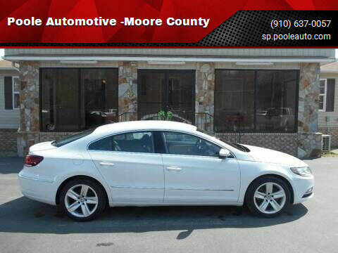 2013 Volkswagen CC for sale at Poole Automotive in Laurinburg NC