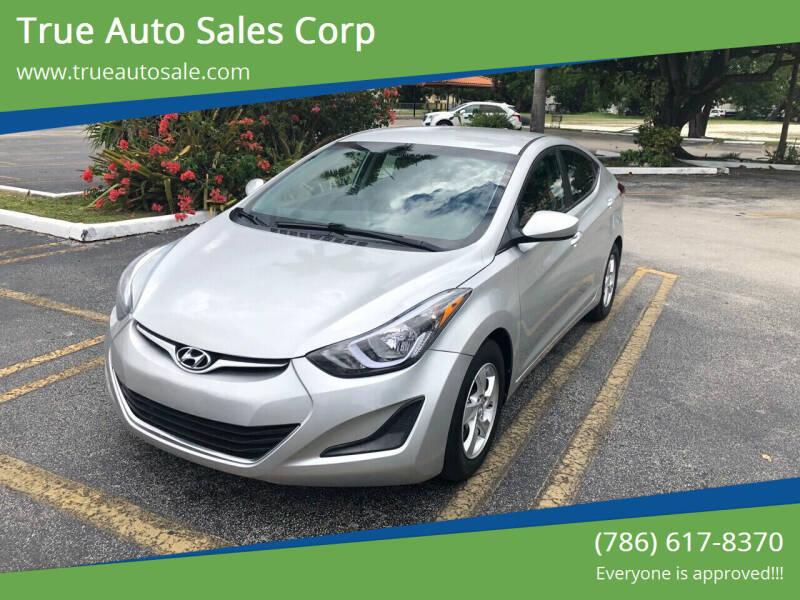 2015 Hyundai Elantra for sale at True Auto Sales Corp in Miami FL