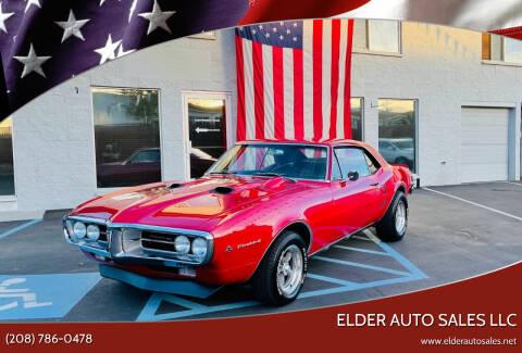 1967 Pontiac Firebird for sale at ELDER AUTO SALES LLC in Coeur D'Alene ID