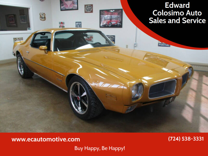 1971 Pontiac Firebird for sale at Edward Colosimo Auto Sales and Service in Evans City PA