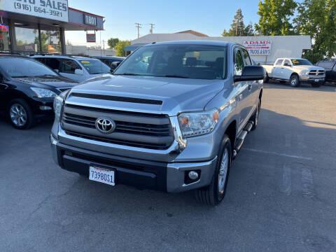 2014 Toyota Tundra for sale at Adams Auto Sales in Sacramento CA