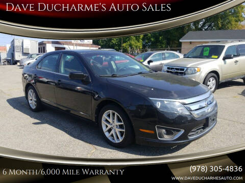 2012 Ford Fusion for sale at Dave Ducharme's Auto Sales in Lowell MA