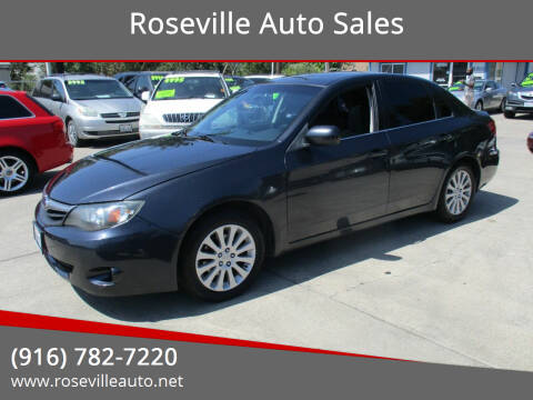 2011 Subaru Impreza for sale at Roseville Auto Sales in Roseville CA