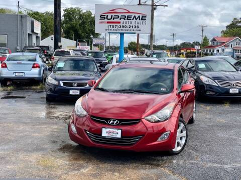 2011 Hyundai Elantra for sale at Supreme Auto Sales in Chesapeake VA