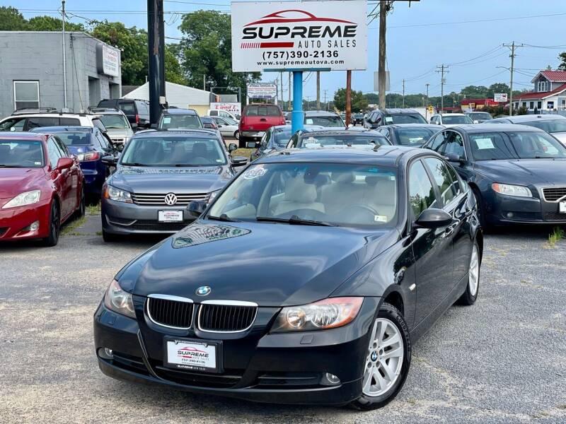 2007 BMW 3 Series for sale at Supreme Auto Sales in Chesapeake VA