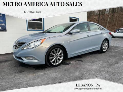 2013 Hyundai Sonata for sale at METRO AMERICA AUTO SALES of Lebanon in Lebanon PA
