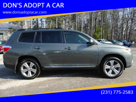 2012 Toyota Highlander for sale at DON'S ADOPT A CAR in Cadillac MI