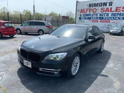2013 BMW 7 Series for sale at Simon's Auto Sales in Detroit MI