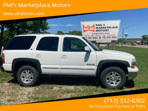 2003 Chevrolet Tahoe for sale at Phil's Marketplace Motors in Arnolds Park IA