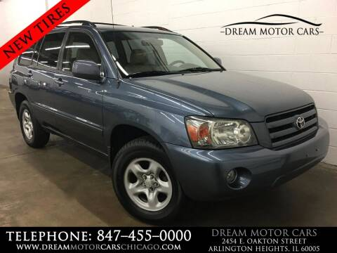 2007 Toyota Highlander for sale at Dream Motor Cars in Arlington Heights IL