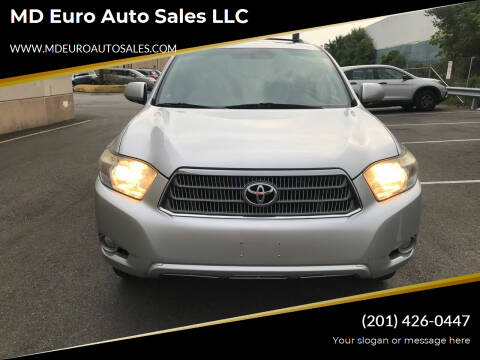 2009 Toyota Highlander Hybrid for sale at MD Euro Auto Sales LLC in Hasbrouck Heights NJ
