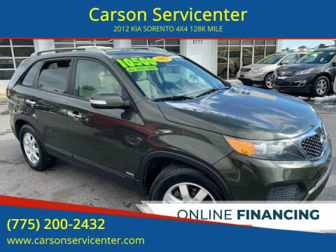 2012 Kia Sorento for sale at Carson Servicenter in Carson City NV