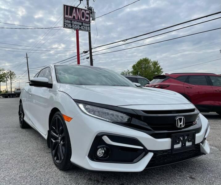 2020 Honda Civic for sale at LLANOS AUTO SALES LLC in Dallas TX